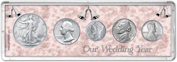 1943 Our Wedding Year Coin Gift Set THUMBNAIL
