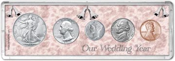 1944 Our Wedding Year Coin Gift Set THUMBNAIL