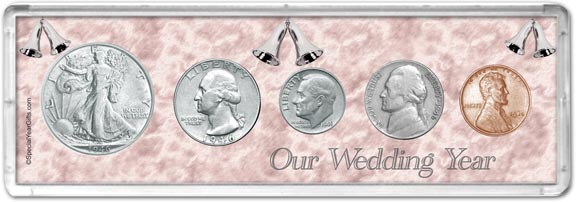 1946 Our Wedding Year Coin Gift Set LARGE