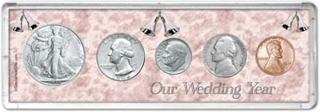 1946 Our Wedding Year Coin Gift Set THUMBNAIL
