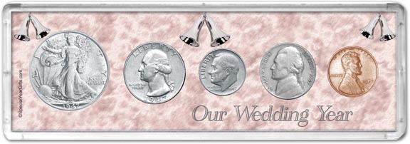 1947 Our Wedding Year Coin Gift Set LARGE