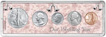 1947 Our Wedding Year Coin Gift Set THUMBNAIL
