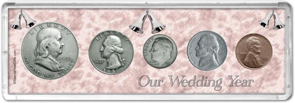 1950 Our Wedding Year Coin Gift Set LARGE