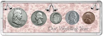 1950 Our Wedding Year Coin Gift Set THUMBNAIL
