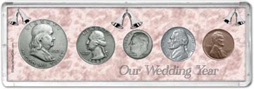 1953 Our Wedding Year Coin Gift Set THUMBNAIL