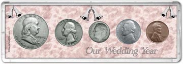 1954 Our Wedding Year Coin Gift Set THUMBNAIL