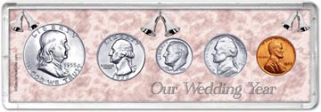 1955 Our Wedding Year Coin Gift Set THUMBNAIL