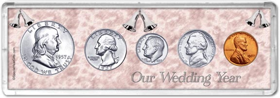 1957 Our Wedding Year Coin Gift Set LARGE