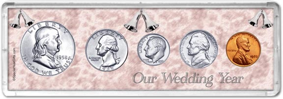 1958 Our Wedding Year Coin Gift Set LARGE