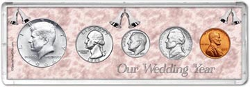 1966 Our Wedding Year Coin Gift Set THUMBNAIL