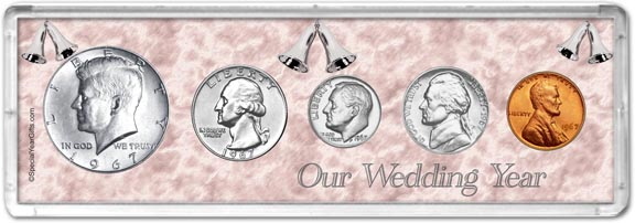 1967 Our Wedding Year Coin Gift Set LARGE