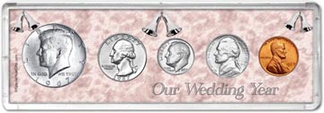 1967 Our Wedding Year Coin Gift Set THUMBNAIL