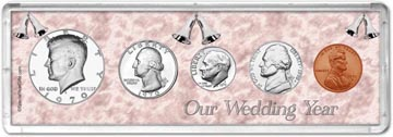 1970 Our Wedding Year Coin Gift Set THUMBNAIL