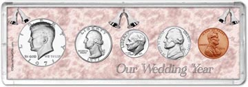 1971 Our Wedding Year Coin Gift Set THUMBNAIL