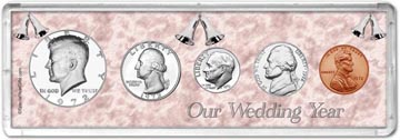 1972 Our Wedding Year Coin Gift Set THUMBNAIL