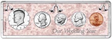 1974 Our Wedding Year Coin Gift Set THUMBNAIL