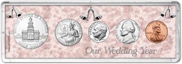 1975 Our Wedding Year Coin Gift Set THUMBNAIL