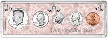 1977 Our Wedding Year Coin Gift Set THUMBNAIL