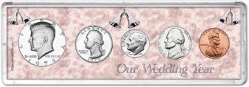 1979 Our Wedding Year Coin Gift Set THUMBNAIL