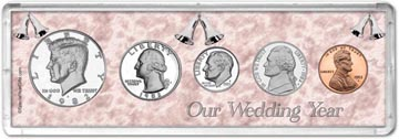 1982 Our Wedding Year Coin Gift Set THUMBNAIL