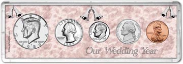 1989 Our Wedding Year Coin Gift Set THUMBNAIL