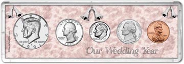 1991 Our Wedding Year Coin Gift Set THUMBNAIL
