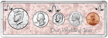 1995 Our Wedding Year Coin Gift Set THUMBNAIL