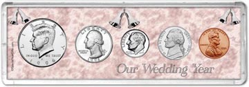 1996 Our Wedding Year Coin Gift Set THUMBNAIL