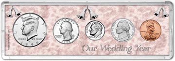 1998 Our Wedding Year Coin Gift Set THUMBNAIL