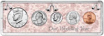 1999 Our Wedding Year Coin Gift Set THUMBNAIL