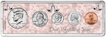 2004 Our Wedding Year Coin Gift Set THUMBNAIL