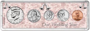 2008 Our Wedding Year Coin Gift Set THUMBNAIL