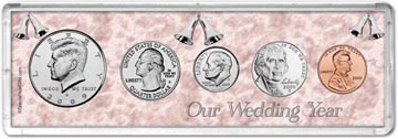 2009 Our Wedding Year Coin Gift Set THUMBNAIL
