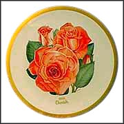 Cherish Rose Collector Plate by Luther Bookout