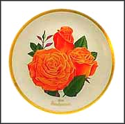 Sundowner Rose Collector Plate by Luther Bookout MAIN