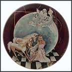 Clowns And Unicorns Collector Plate by Margaret Kane