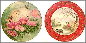 June Dream / Chun Li At The Pond - set of 2 Collector Plate by Irving And Carol Burgues