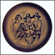 Pilgrim Father Collector Plate by E. A. Babka