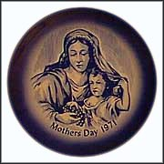 Madonna And Child Collector Plate by E. A. Babka