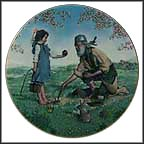 Johnny Appleseed Collector Plate by Gene Boyer