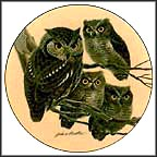 Screech Owls Collector Plate by John Ruthven