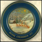 Arrival of Santa Claus Collector Plate by Queen D Franklin