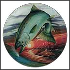 Chinook Salmon Collector Plate by John Eggert