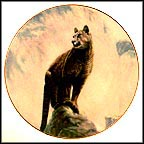 Mountain Lion Collector Plate by Gregory Perillo