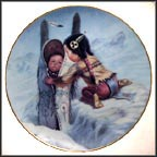 Bundle Up Collector Plate by Gregory Perillo