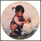 Girl With Seashells Collector Plate by Kee Fung Ng