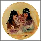 Spring Blossoms Collector Plate by Ted DeGrazia