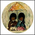Sun Showers Collector Plate by Ted DeGrazia