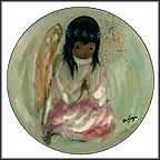 A Little Prayer - The Christmas Angel Collector Plate by Ted DeGrazia