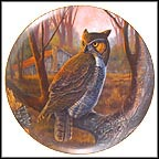 First Light - Great Horned Owl Collector Plate by Larry Toschik